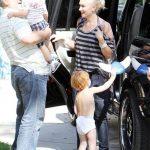 Gwen Stefani Drops Baby Zuma Off With Grandpa