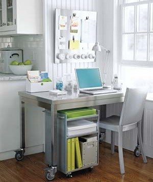 A Home Office In The Corner Of Your Kitchen