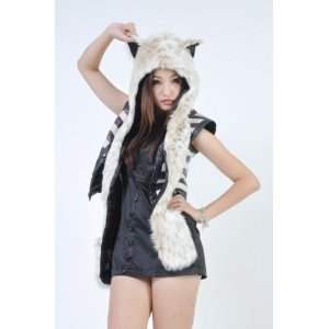 Animal Hats with paws snow leopard