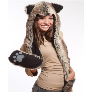 Animal Hats with paws wolf
