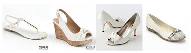 Wear white shoes. Go for peep toes, wedges and ballet flats. Just