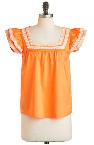 Mod Cloth Orange Top