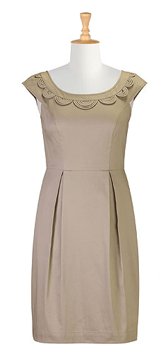 Scalloped cut out sheath dress