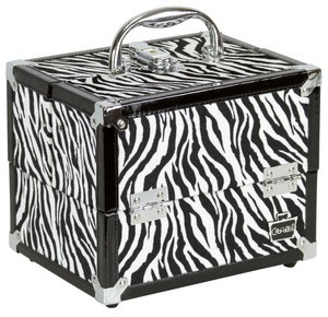 Zebra Train Case Caboodles