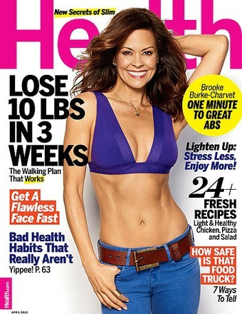 Brooke Burke-Charvet April Health Magazine