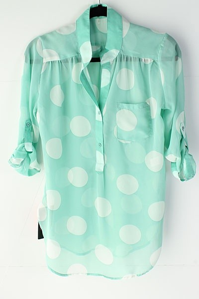 Polka Dot Shirt Mint