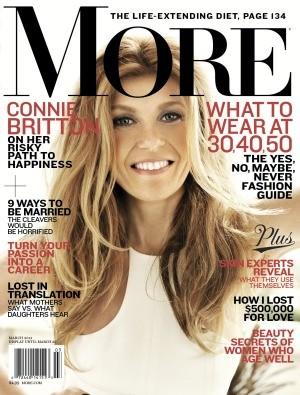 Connie Britton More Magazine Cover