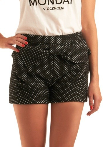black and white bow shorts