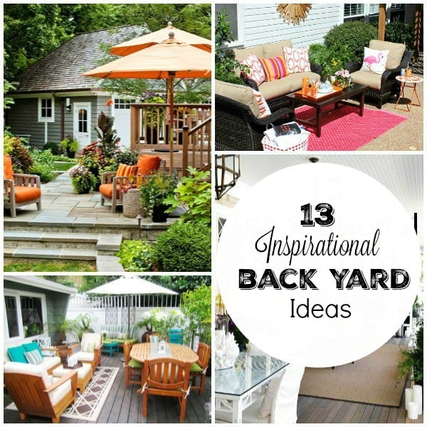 Warm weather will be here before we know it and we'll all be spending more time outside. These 13 backyard ideas will give you the inspiration you need to spruce up your outdoor living spaces.