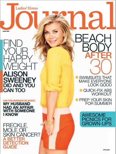 Allison Sweeney Ladies Home Journal