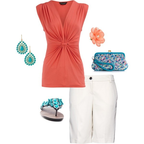 Coral and Teal Trend 08