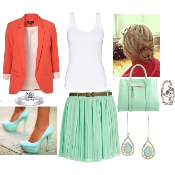 Coral and Teal Trend 09