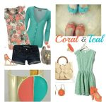 Fashion Obsession: Coral and Teal