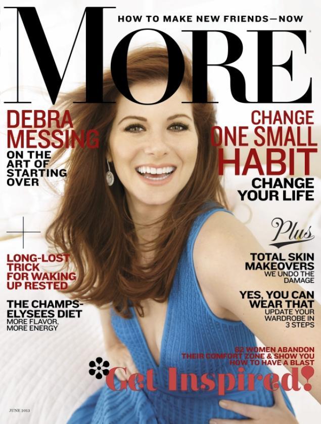 Debra Messing More Magazine Cover