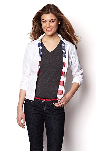 Nautica American Flag Jacket