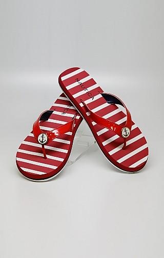 Nautica Stripe Flip Flops