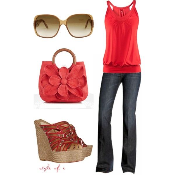 cute outfit ideas pops of color 05