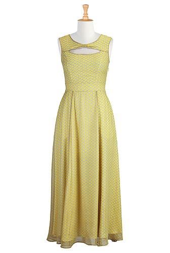 gold maxi dress
