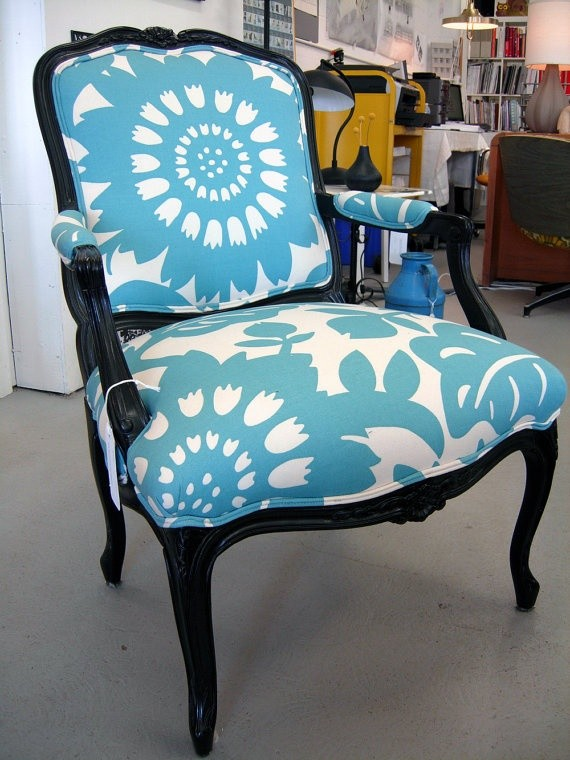 Blue chair etsy