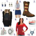 I'm Seeing Red, White & Blue! July 4th Fashion