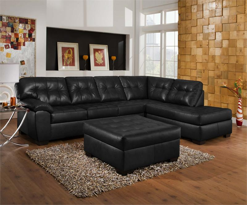 Ordinaire Black Leather Couch