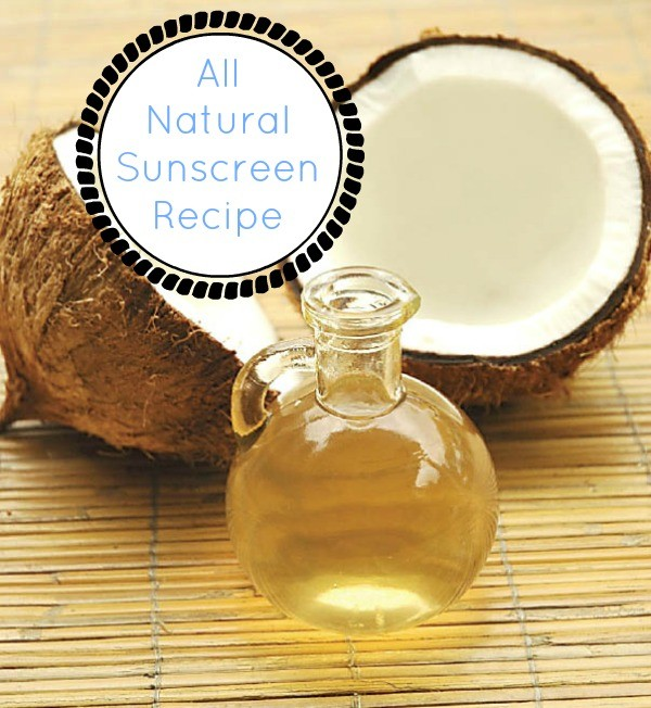 All Natural Sunscreen Recipe
