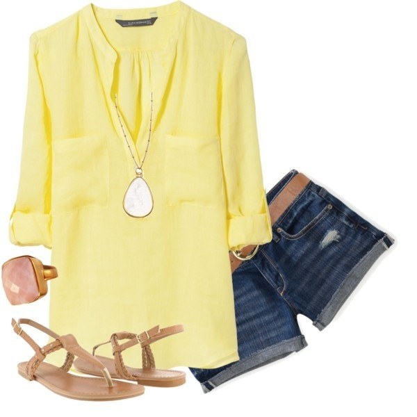 cute outfit ideas 03 yellow