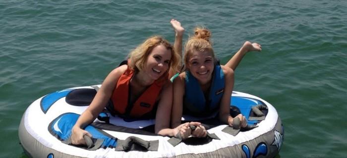 Hannah and I tubing