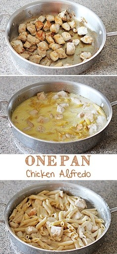 One Pan chicken alfredo