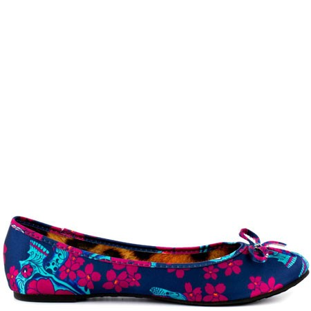 Printed Flats FLowers Blue
