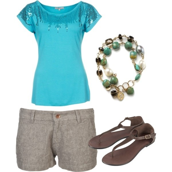 cute outfit ideas gray shorts