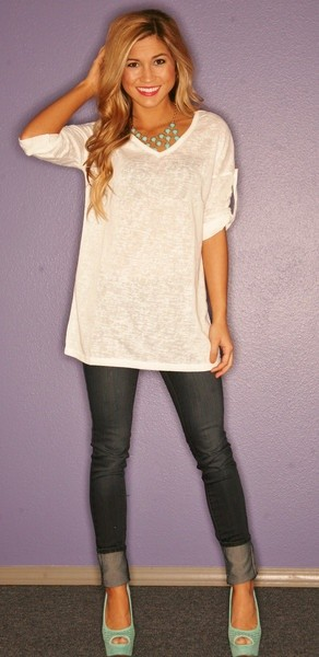 cute outfit ideas oversized tee