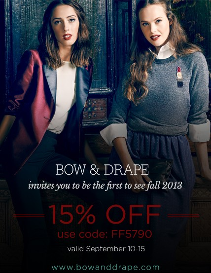 Bow and Drape Discount Code