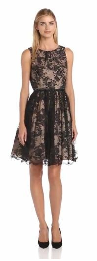 Jessica Howard Women's Shirred-Neck Party Dress