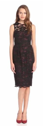 Jill Jill Stuart Women's Illusion Lace Shift Dress