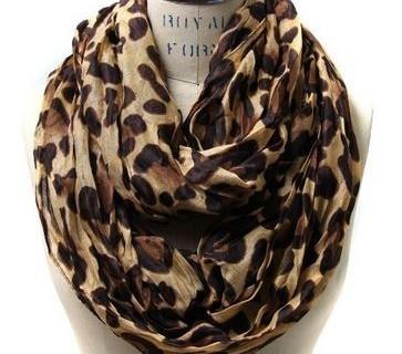leopard print infinity scarf 01