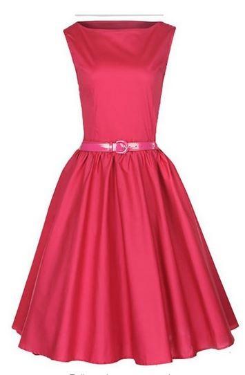 1950s vintage pink dress