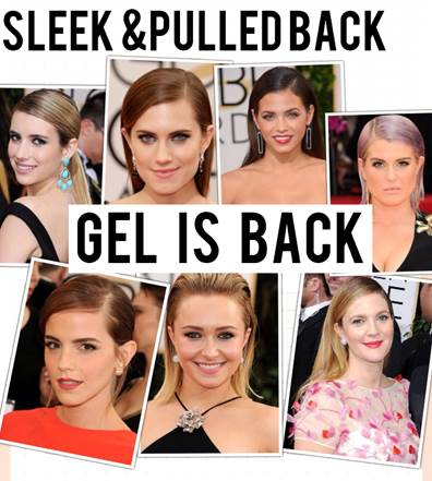 How-To Hair Trend: The Golden Globes Sleek & Pulled Back Look
