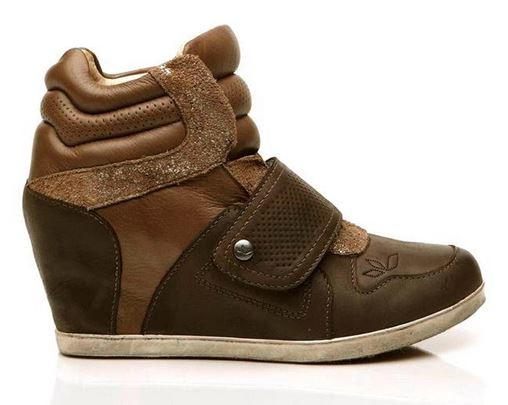 Charlie Sneaker Wedge  brown