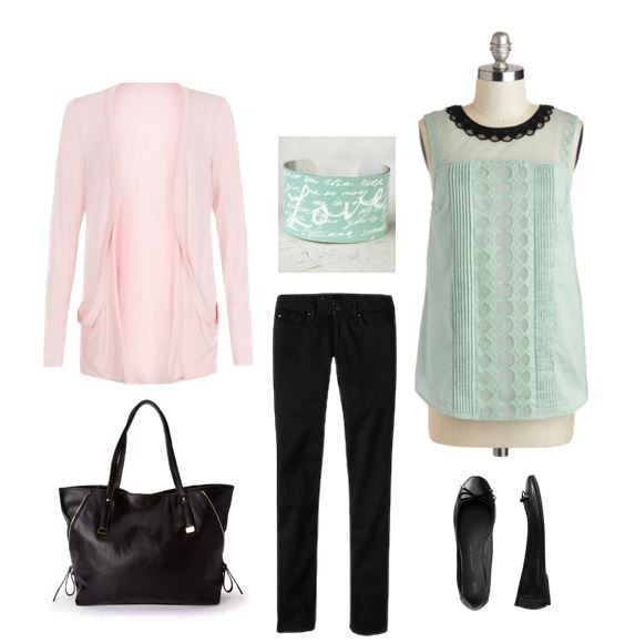 Cute Outfit Ideas mint green 01