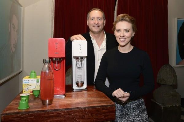 Scarlett Johansson CEO Daniel Birnbaum SodaStream - small
