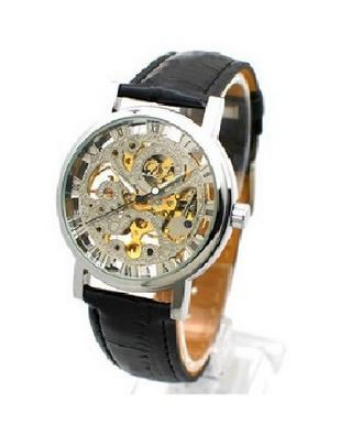 Women's brown leather watch