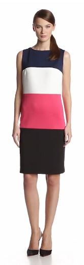 Anne Klein Women's Color-Block Knit Dress