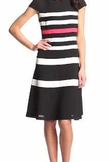 Anne Klein Women's Color-Block Swing Dress