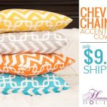 Chevron & Chain Link Accent Pillow Covers Only $9.99 Shipped – Ends Today!