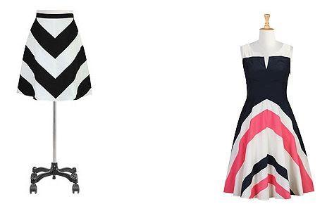 Chevron Striped Skirts