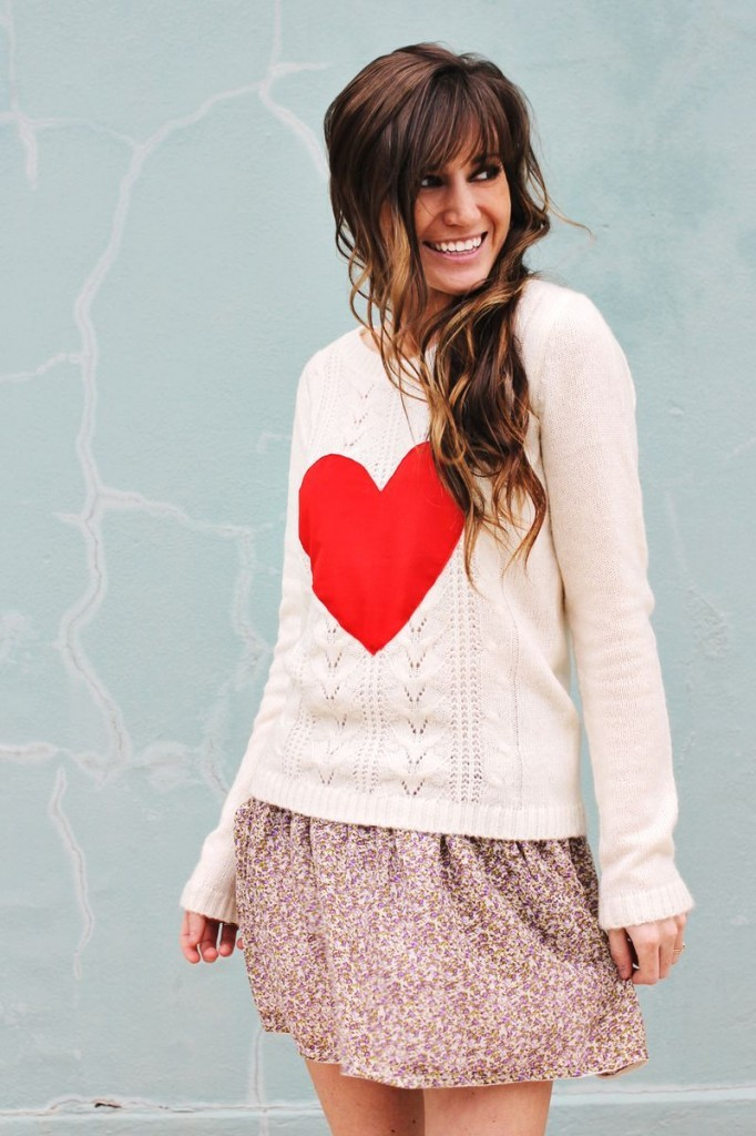 DIY Fashion heart sweater a beautiful mess