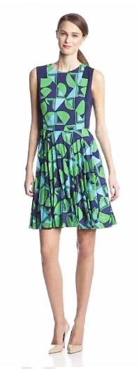 Donna Morgan Women's Sleeveless Dress with Pleated Skirt