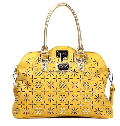 Amber Floral Eyelet Tote