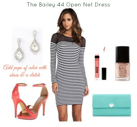 Bailey 44 Open Net Dress Styled
